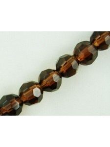 Faceted Round 8mm Brown - 43pcs/str