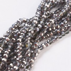 Abacus 4x3mm ~150 beads LT Grey PL