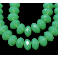 Abacus Bead 10mm Pale Green strand