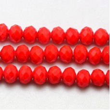 Abacus Beads 10x8mm FC Red ~15.7in