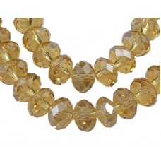 Abacus Faceted Golden 14mm 48pcs/st