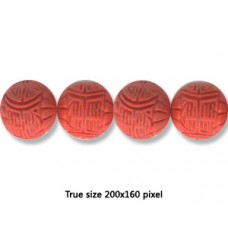 Cinnebar Round Bead 16mm Red