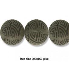 Cinnebar Round Bead 23mm Black