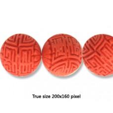 Cinnebar Round Bead 23mm Red