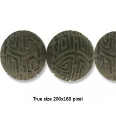 Cinnebar Round Bead 28mm Black