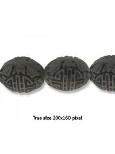 Cinnebar Egg Bead 30x20mm Black