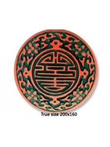 Cinnebar Disc Bead 51mm Red-Black