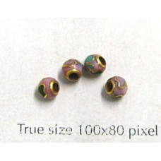 Cloisonne Bead Round Pink 4mm