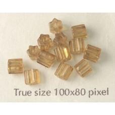 CZ Tube 3x5mm Marble Topaz