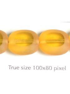 CZ Pillow 14x12mm Amber