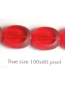 CZ Pillow 14x12mm Siam Red