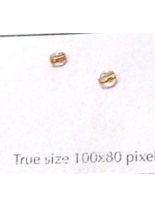 CZ Round Faceted 3mm Clear Copper Lined