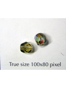 CZ Faceted Round 6mm Grey AB