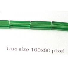 Cz Tube 10x4mm Dark Peridot