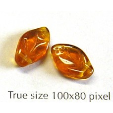 CZ Leaf 12x7mm Dark Topaz