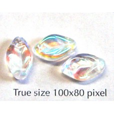 CZ Flat Leaf 12x7mm Clear AB