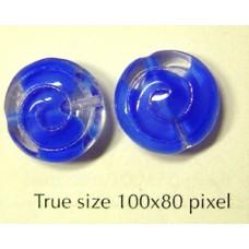 CZ Cinnamon Roll Bead 13mm Blue/Clear