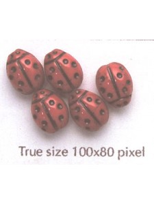 CZ Ladybug 10x7mm Medium Red