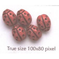 CZ Ladybug 10x7mm Medium Red