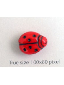CZ Lady Bug 11x14mm Red w/black dots