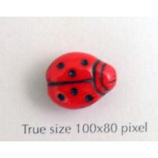 CZ Lady Bug 11x14mm Red w/black dots