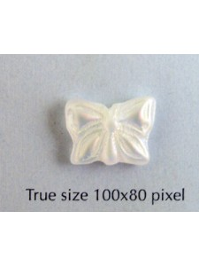 CZ Butterfly 15x12mm Clear Matt AB 2X