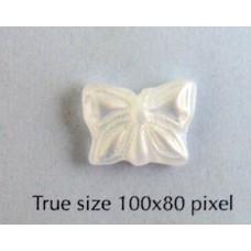 CZ Butterfly 15x12mm Clear Matt AB 2X