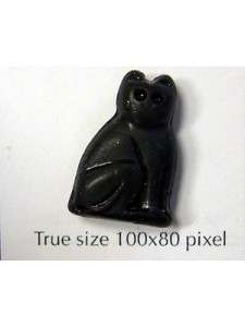 CZ Lg Sitting Cat 14x20mm Black Matt
