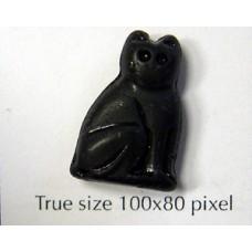 CZ Lg Sitting Cat 14x20mm Black Matt