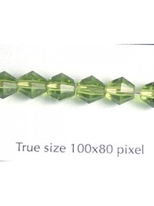 CZ Faceted Diamond 6mm Olive
