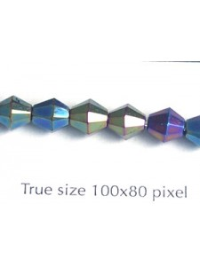 CZ Faceted Diamond 6mm Green