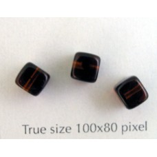 CZ Cube 5x7mm Dark Tortoise