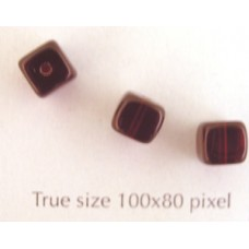 CZ Cube 5x7mm Garnet