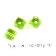 CZ Cube 5x7mm Peridot