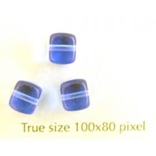 CZ Cube 5x7mm Sapphire