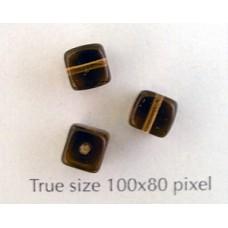 CZ Cube 5x7mm Smoked Topaz