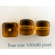 CZ Cube 8x11mm Amber