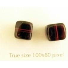 CZ Cube 8x11mm Dark Amethyst