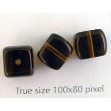 CZ Cube 8x11mm Smoked Topaz