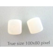 CZ Cube 8x11mm White Opal