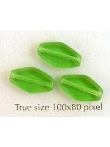 CZ Flat Diamond 13x8mm Apple Green