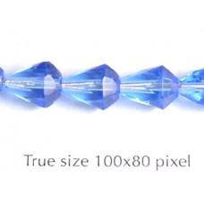 CZ Faceted Drop 7x9mm Sapphire