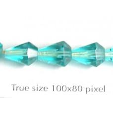 CZ Faceted Drop 7x9mm Aqua