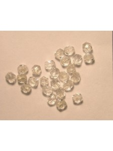 CZ Round Faceted 3mm Clear Silver/L