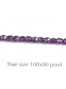 CZ Round Faceted 3mm 2T Fuchsia/Amethyst