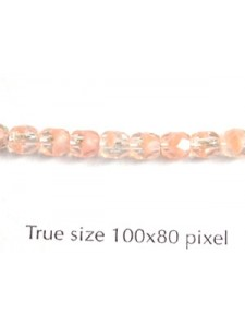 CZ Round Faceted 4mm 2ToneCrystal/OpPink