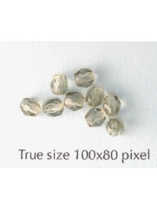 CZ Round Faceted 4mm Bl.Diamond