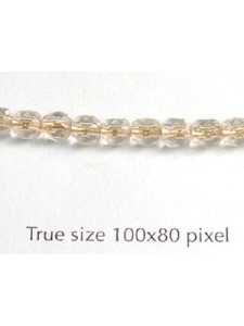 CZ Round Faceted 4mm Clr Brass Lined