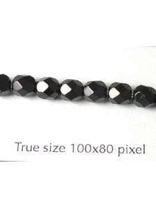 CZ Round Faceted 5mm Jet