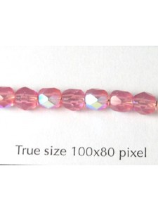 CZ Round Faceted 5mm Opal Pink AB